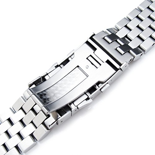 22mm Super Engineer II Straight End Watch Bracelet, Universal 1.8mm SpringBar, Ratchet Buckle by Metal Band by MiLTAT (Image #6)