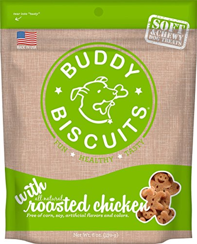 Cloud Star Soft & Chewy Buddy Biscuits Dog Treats, Roasted Chicken Flavor, 6-Ounce Pouches (Pack Of 4) Buddy Biscuits Sweet Potato
