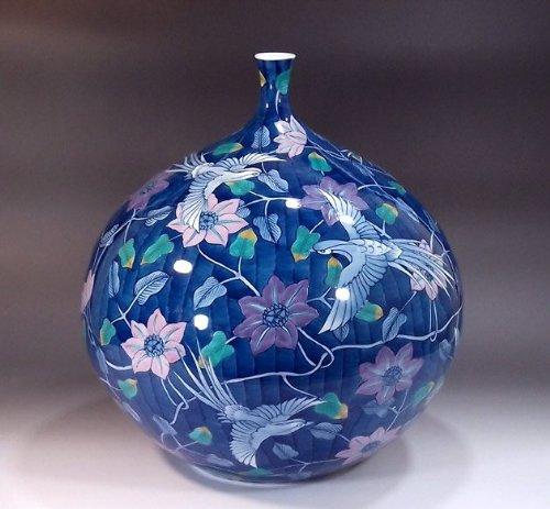有田焼伊万里焼|花瓶陶器花器壺|贈答品|高級ギフト|記念品|贈り物|色鍋島鳳凰藤井錦彩 B00HQXRHP0