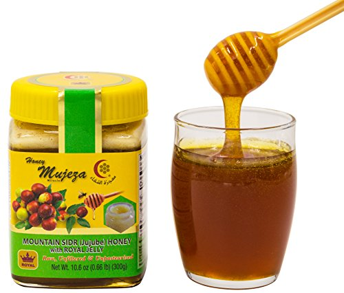 Sidr Honey - Mountain Sidr Honey (Sader/Jujube) with Royal Jelly Raw Honey (300g/10.6 oz)