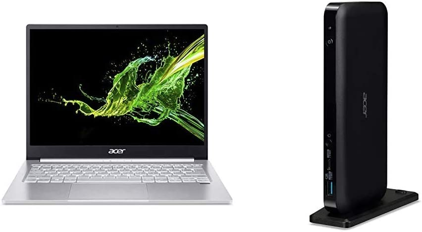 """Acer Swift 3 Thin & Light 13.5"""" 2256 x 1504 IPS Display, 10th Gen Intel Core i5-1035G4, 8GB LPDDR4, 512GB NVMe SSD with Acer USB Type-C Dock III"""