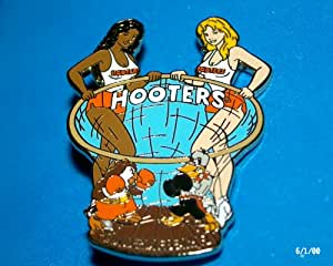 Hooters Restaurant Collectable Enamel Girl Hootie Owl Boxing Duck Ft Lauderdale FL Flordia Lapel Pin