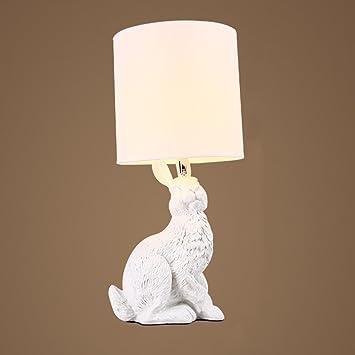 Miluce Nordic Einfache Tischlampe Tier Schlafzimmer Nachttisch Lampe