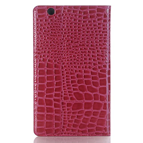 LMFULM Design Mediapad Leather 8 Splice for Folding Closure of Function Leather Stent M3 Huawei Business Thin Ultra and Auto Function Wake Magnetic Inch Bookstyle Slot Cover Red 4 Sleep Case PU Card Wine ZrHZqwt