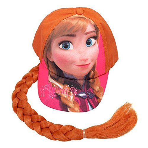 Baseball Cap - Disney - Frozen Anna w/Hair Wig Cosplay Hat New 171596-2 Berhsire Fashion 00-RALW2K