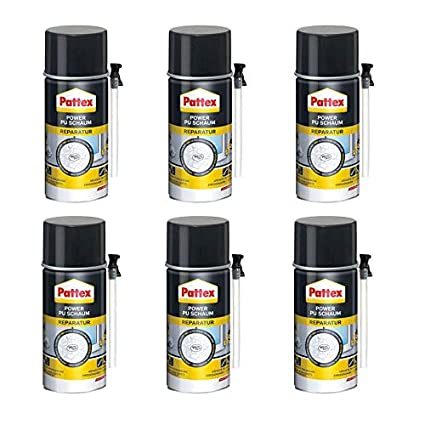 6 x Pattex Power Reparación de espuma de poliuretano 300 ml – White Tech