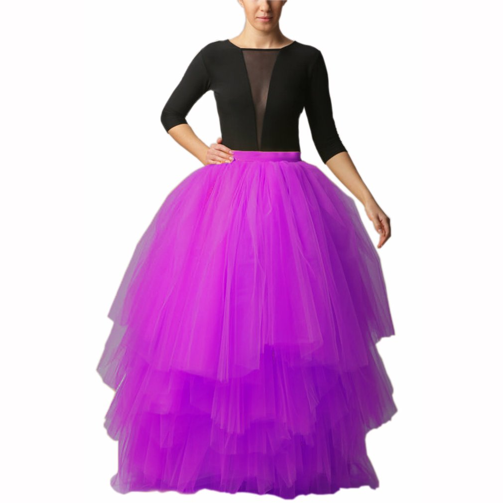 Lisong Floor Length Tulle Layered Tutu Party Prom Skirt Women 26W US Violet by Lisong