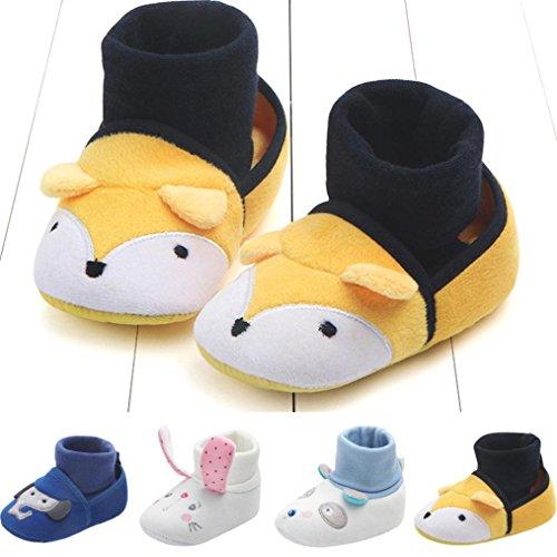 HUHU833 Neugeborene Lovely Kleinkind Schuhe Baby Schuhe Karikatur Schuhe Weiche Schuhe Kinder Baby Freizeitschuhe 0~12Month Gelb