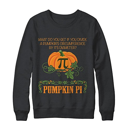 Funny Halloween Math Pumpkin Pi T-Shirt Unisex Gildan - Pullover Sweatshirt Dark Heather Small (Pumpkin Sweatshirt Kids)