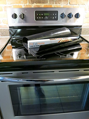 FitFabHome Non-Stick Oven Liners - on stove top