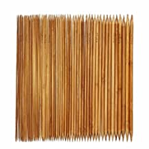 Celine lin 11 sizes(55picks) 5.2inch''(13CM)Carbonized Double Pointed Bamboo Knitting Needle US 0-8(2mm-5mm)