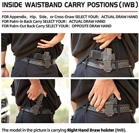 "Amberide IWB KYDEX Holster Fit: S&W M&P 9/40 M2.0 Compact 3.5"" & 3.6"" Barrel Pistol 