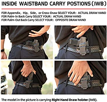 Kydex OWB Waistband Side Holster Fits Glock 43