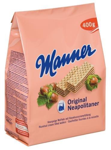- Manner Original Neopolitaner Hazelnut Wafers - Made in Austria (Pack of 2)