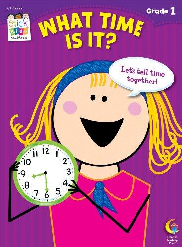 What Time Is It? Stick Kids Workbook, Grade 1 (Stick Kids Workbooks)