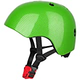 Six Foxes Kids Cycle Helmet - Adjustable Kids Cycling Helmet Multi-Sport Safety Bike Skating Scooter Helmet for 3 to 8 Years Old Girls/Boys (Green)
