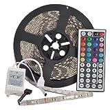 YHG 12v Flexible RGB LED Strip Light - LED Tape - Multi-colored - 300 Units 5050 Leds - waterproof - Adhesive Light Strips - Pack of 5m