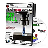 Mastercam 2017-2018 - 2D MILL Beginner 3-Axis Video Tutorial in 720p HD