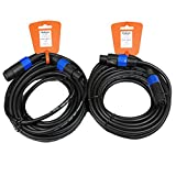 New Set of Two 30' Pro Audio Speaker Cables Male Speakon Jack to Female Speakon Jack 2SMSF30