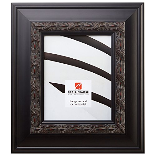 Craig Frames 9204 20 by 28-Inch Picture Frame, Ornate Finish, 3.5-Inch wide, Black with Red Tones Review