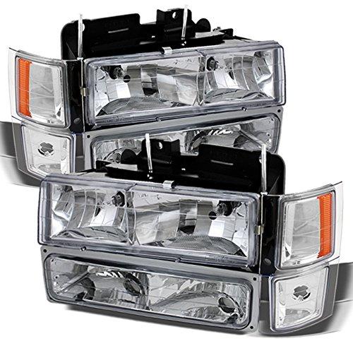 Chevy C/K 1500/2500/3500 Tahoe Suburban Silverado Full Size C10 Headlights Driver/Passenger (Chevy Truck Headlight Lamp)
