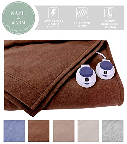 Soft Heat Luxury MicroFleece LowVolt Electric Heated Blanket