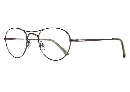 7b671f4983 Amazon.com  Tom Ford Men s Optical Frame Metal Gun Metal Frame Transparent  Lens Non-Polarized Glasses 50 0  Clothing
