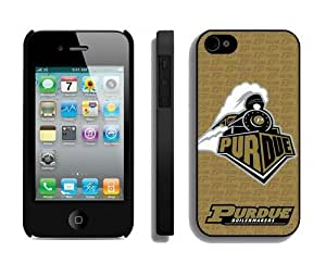 Custom Apple Iphone 4/4s Phone Case Cover Sports Element Ncaa Purdue Boilermakers Designer Mobile Phone Accessories