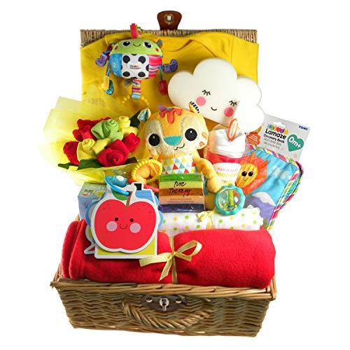 panier cadeau bébé, une idée cadeau originale et amusante pour accueillir un bébé fille ou garçon.