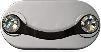 MAG-B magnetic eyeglass holder (black stainless steel with original Swarovski crystals)