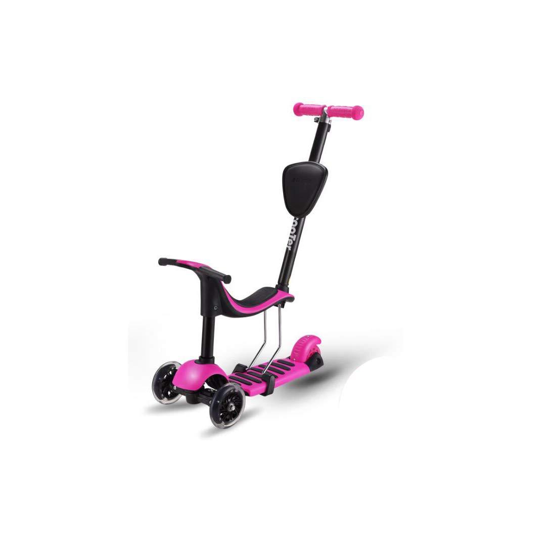 売れ筋商品 TLMYDD 子供のスクーターオールインワンは Pink、3輪フラッシュPUホイールスクーター (色 B07NRSBGNQ、26 x 55 x 81 cmを押すことができます 子供スクーター (色 : Pink) B07NRSBGNQ Pink, 布の店ブーケ:1a7291a0 --- a0267596.xsph.ru