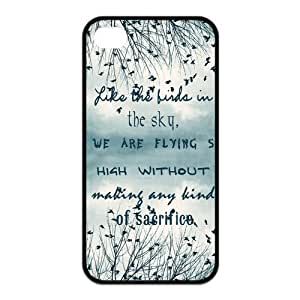 diy zhengBe Free Birds Quote Protective Rubber Back Fits Cover Case for iphone 5/5s