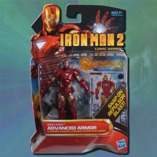 Iron Man 2 Comic Series 4 Inch Action Figure #32 Advanced Armor Iron Man Reborn