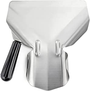 New Star Foodservice 42344 Stainless Steel Commercial French Fry Bagger with Left Handle