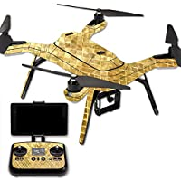 MightySkins Protective Vinyl Skin Decal for 3DR Solo Drone Quadcopter wrap cover sticker skins Gold Tiles