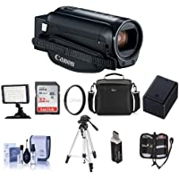 Canon VIXIA HF R80 3.28MP Full HD Camcorder, - Bundle With 43mm UV Filter, Video Bag, 32GB SDHC Card, Video Light, Tripod, Spare Battery, Cleaning Kit, Memory Wallet, Card Reader