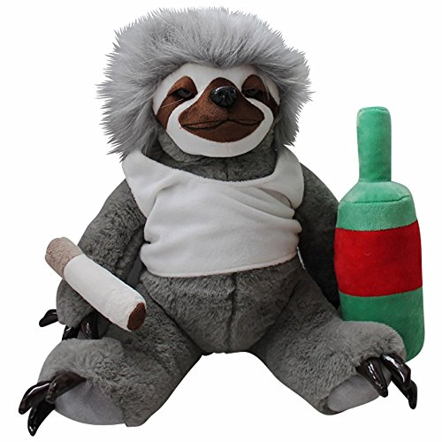 Moochie The Slacker Sloth – Lazy Sloth Plush Stuffed Animals for Adults Funny Gag Gifts Weird Gifts for Men Women Gifts for Slackers Sloth Gifts Stuffed Sloth Toy Life in the Slow Lane (Christmas Sloth)