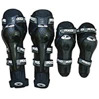 Axo Racing Combo of Motorcycle Riding Knee and Elbow Guards (Black)