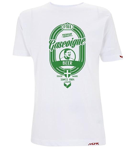 Münk - Paul Gascoigne - Camisetas de diseño retro fútbol vintage - Muñeco recortable gratis