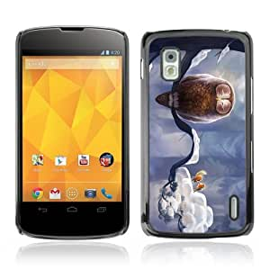 Designer Depo Hard Protection Case for LG Nexus 4 E960 / Cute Birds & Owl