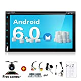 2G 32G Quad 4 Core 6.95 inch 2 Din Android 6.0 Car Stereo Radio Muti-touch Screen GPS Navigation DVD Player Support 3G WIFI Bluetooth OBD2 Mirror Link with Backup Camera