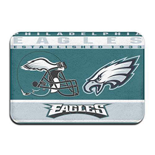 Dalean Philadelphia Eagles Anti-Sliding Door Mat Floor Mat,Do Not Fade,15.75inx23.62in,Suitable Indoor Floor MATS Such As Entrance, Bathroom,Bedroom,Toilet,Etc