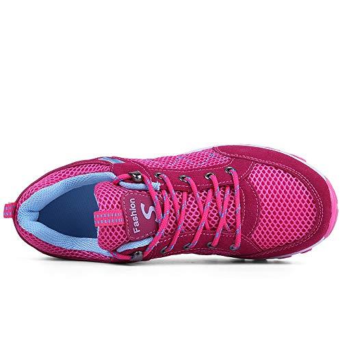 mit leichten Rosa Laufenden der Breathable Schuhe erhöhen Schuhen Schuh LIANGXIE zufällige Frauen Nicht Turnschuhe Die Ineinander Damen Wellen Greifen Schuhe Beleg wSqxn5TR