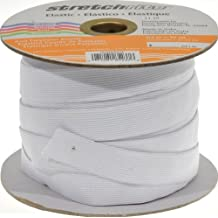 Stretchrite 3/4-Inch by 30-Yard White Knit Polyester Elastic Spool
