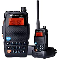 NKTECH UV-5RX VHF UHF Dual Band 136-174/400-480MHz PTT 5W FM Two Way Radio Ham Transceiver Walkie Talkie With 3200mAh 7.4V Li-ion Batteries Accessories Warranty Original