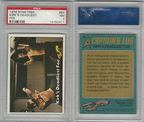 1976 Topps, Star Trek, #84 Kirk's Deadliest Foe, PSA 7 NM