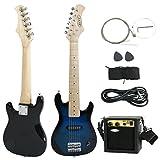 """Blue Guitar Electric Package Beginner Amp New Starter Picks Kid's 30"""""""