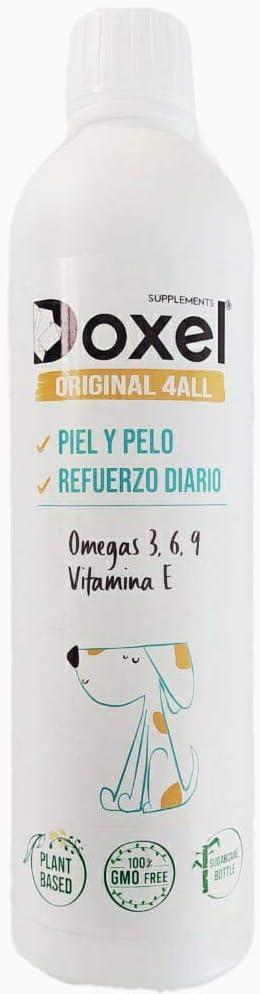 DOXEL ORIGINAL 4ALL-250ml Aceite para Perros| Suplemento Natural | Sistema Inmunitario Reforzado| Articulaciones sanas| Pelo Brillante| Piel Sana| Ácidos grasos Omega 3 6 9| Vitamina E| Alergias