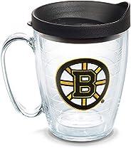 Tervis 1062502 NHL Boston Bruins Primary Logo Tumbler with Emblem and Black Lid 16oz Mug, Clear