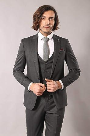 8c76a763e66ab Antrasit Desenli Erkek Takım Elbise | Wessi Füme 44: Amazon.com.tr ...